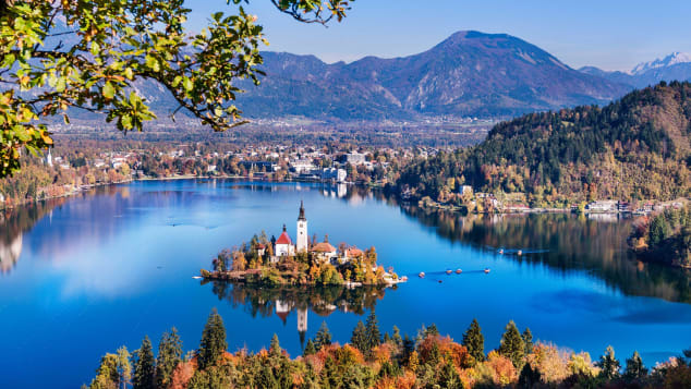 A view of Lake Bled, a popular tourist spot in Slovenia.