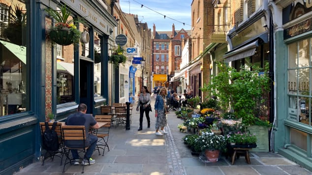 Flask Walk is beautiful, narrow slice of upscale north London.