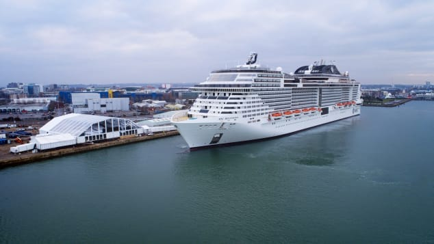The MSC Bellissima cruise ship, which arrives in Dubai for the first time this winter.
