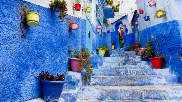 No one's exactly sure why the streets of Chefchaouen are blue.