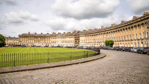 The Royal Crescent's sweep of 30 terraced houses was built in the 18th century.