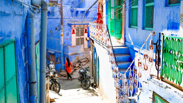 Jodhpur's streets were painted blue to signify the presence of the Brahmin or priest caste.