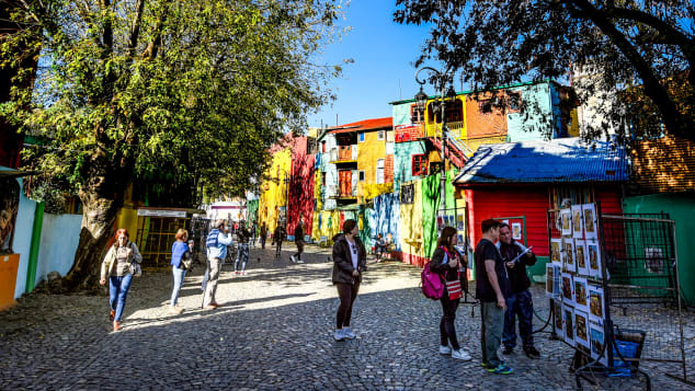Caminito serves as a street museum showcasing works by local artists.