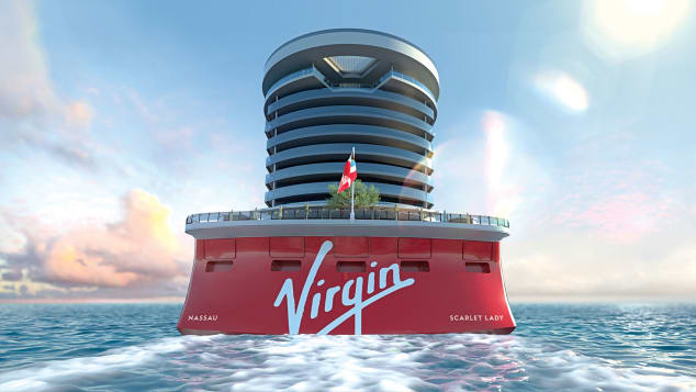 Scarlet Lady, the flagship of Virgin Voyages, will make its debut in April.