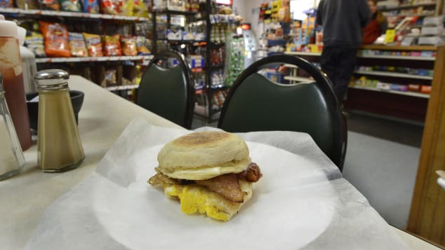The bodega bacon, egg and cheese is a solid NYC breakfast any day of the week but is especially delicious the morning after a big night out.