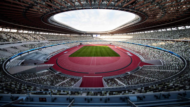 The new National Stadium will host the Tokyo 2020 Olympic Games.