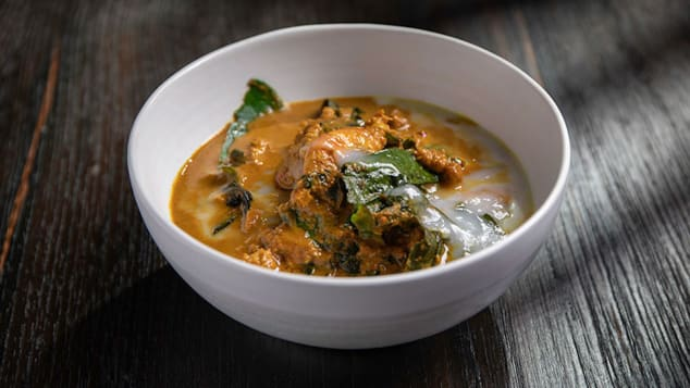 Coconut and turmeric curry with mashed prawns.jpeg