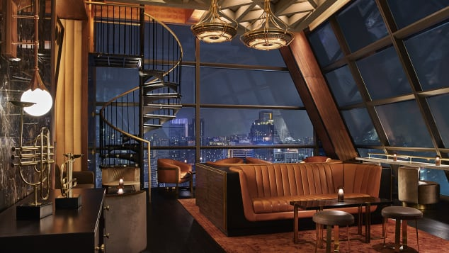 Lennon's is the bar on the top floors of the Rosewood Bangkok.
