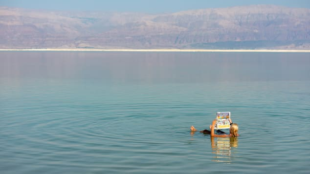 Float your worries away. The Dead Sea is the perfect spot to relax during a tour of the Middle East.