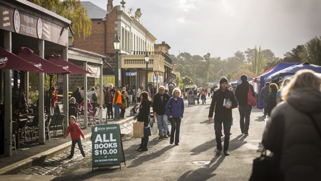 The Clunes Booktown Festival takes place every May.