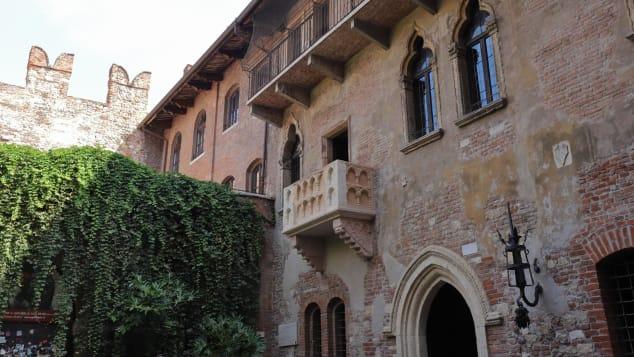 Pictured: Juliet's balcony. Not pictured: Juliet.