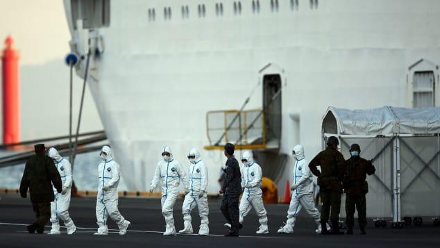 The Diamond Princess is currently docked in Yokohama, Japan.