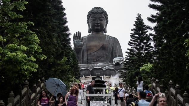 """The Tian Tan Buddha is often referred to as the """"Big Buddha"""" or """"Lantau Island Buddha."""""""
