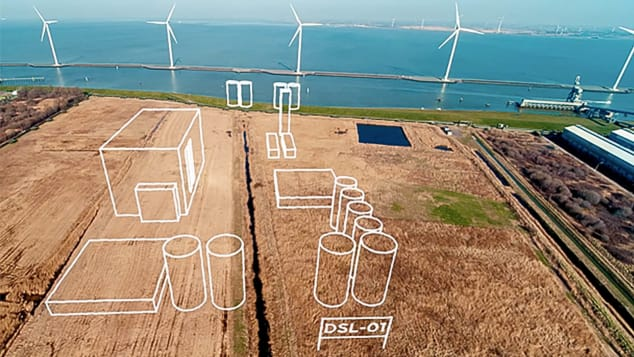 SkyNRG site for DSL-01 project in Delfzil Netherlands