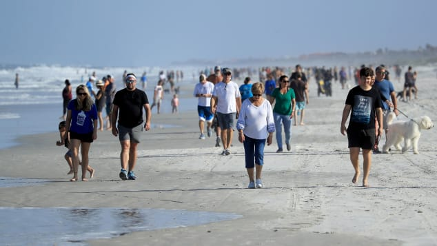 Beaches reopened in Jacksonville, Florida, on April 17.