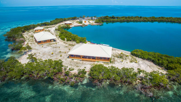 For sale in Belize for $5 million, North Saddle Caye has its own protected lagoon.