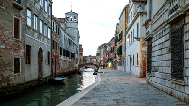 The virus has revealed just how few residents remain in Venice.