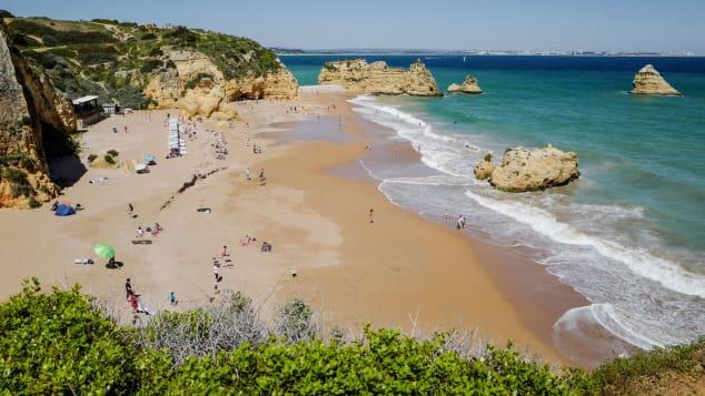Dona Ana beach in Lagos in the southern Portugal region of Algarve