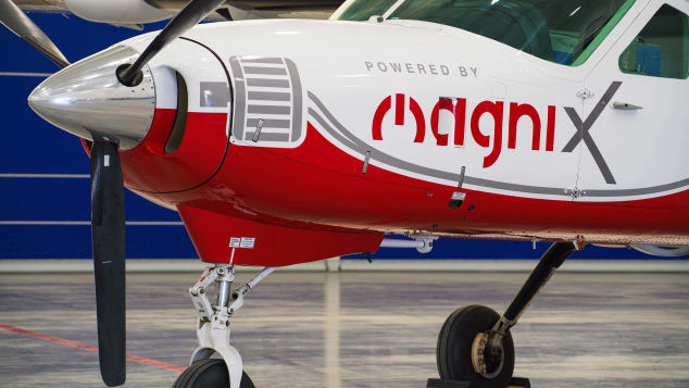 The aircraft uses electric propulsion systems manufactured by magniX.