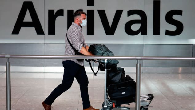 People arriving in the UK will be allowed to travel to their place of quarantine by public transport.