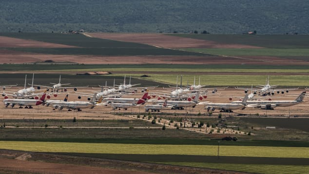 Teruel Airport, which is used for aircraft maintenance and storage, has received increased demand as a result of the pandemic.