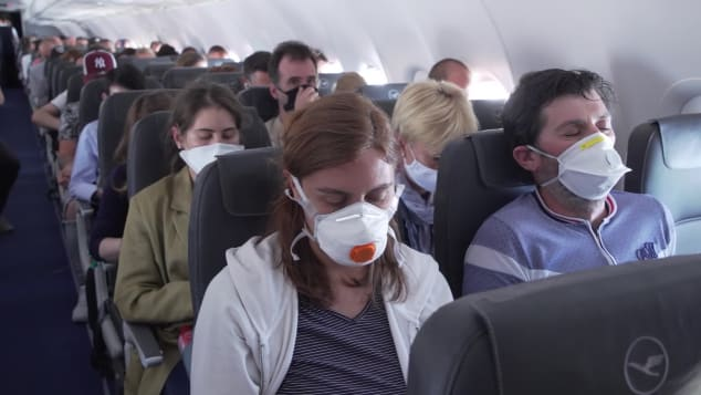 Mask wearing is becoming the new normal of air travel.