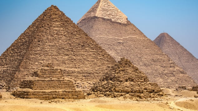 The Giza Pyramids are among many ancient sites subject to alien theories.