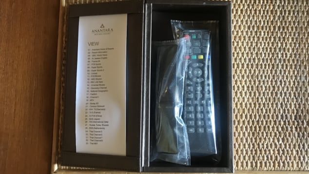 To make cleaning easier after guests' departure, all remote controls have been wrapped in plastic.