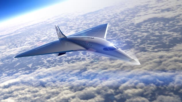 Virgin Galactic has released images of a supersonic jet design.