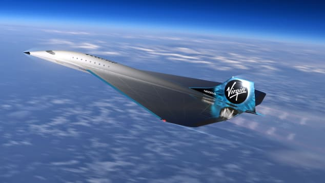 The Virgin Galactic aircraft is one of a few supersonic jet ideas currently in the design stages.