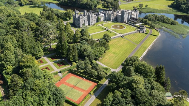 Ashford Castle in County Mayo, Ireland, is completely sold out the week between Christmas and New Year's.