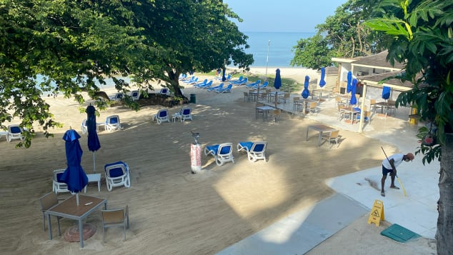 In late June, Hedonism II staff prepared the resort for reopening.