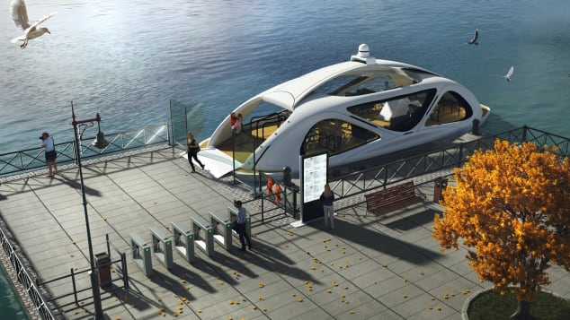 Zeabuz says its self-driving ferry will be given a sleek, modern aesthetic, to match its advanced tech, in the next five years.