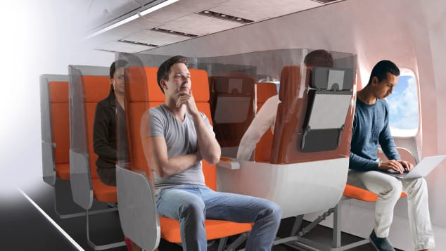 The Janus proposal features seats fitted with a three-sided shield.