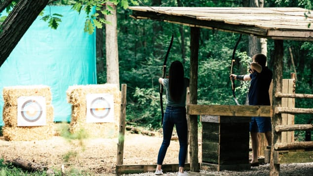 The Inns of Aurora in the Finger Lakes of upstate New York offers guests private archery lessons.