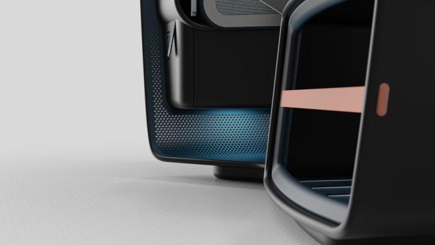 Perforasi pada struktur kursi membantu dinamika aliran udara fluida di dalam kabin.