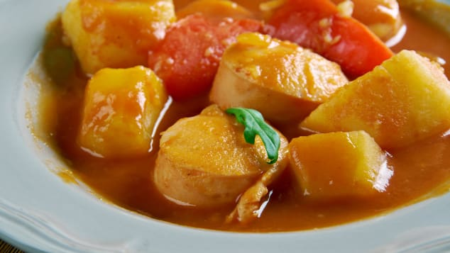 Sweet Hungarian paprika brings the magic to this hearty dish.