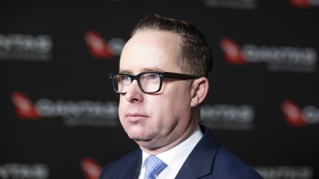 Alan Joyce, CEO da Qantas Airways, em Sydney, Austrália, em 20 de fevereiro de 2020.