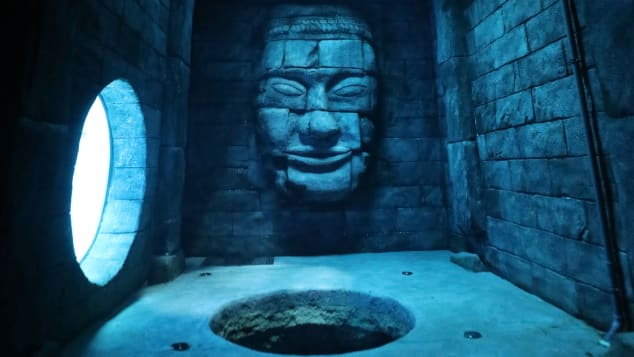 Deepspot features artificial underwater caves and Mayan ruins for divers to explore. Image courtesy - Deepspot