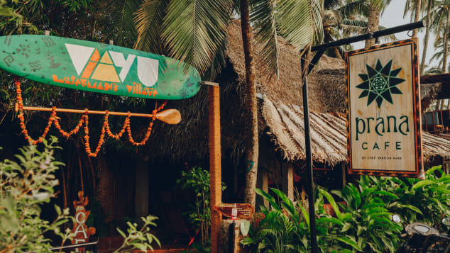 Goa's Prana Cafe serves dishes made with locally sourced organic ingredients.