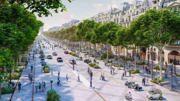 The avenue will become greener and more pedestrian-friendly.