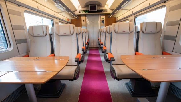 Spain high-speed train from Madrid to Barcelona