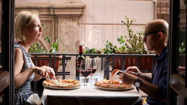 Stanley Tucci speaks with professor Elisabetta Moro about the history of pizza in Naples.