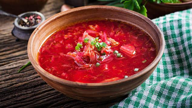 Tender beets are just the start of borscht's tangy delights.