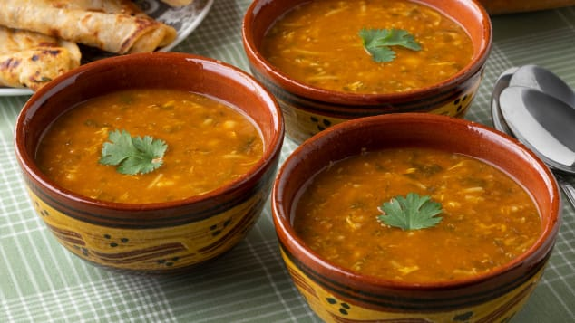 Moroccan harira uses chickpeas in a savory tomato broth to superb effect.