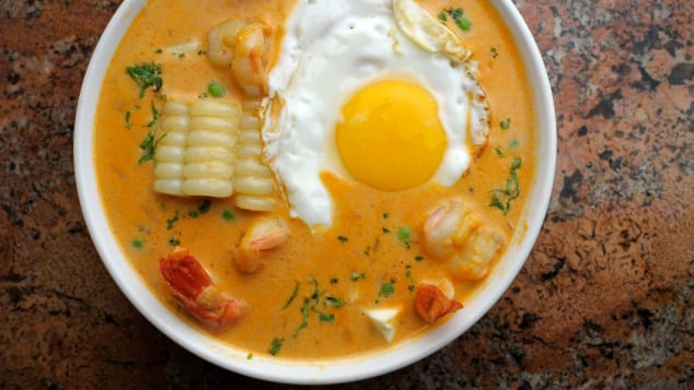 Shrimp lovers will want to try the Peruvian soup known as chupe de camarones.