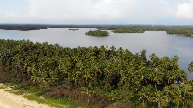 The Kavvayi island group is just off the coast of Kerala.