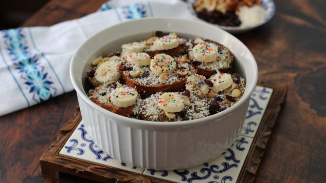 The Mexican dessert capirotada is a next-level bread pudding scented with cinnamon and cloves.