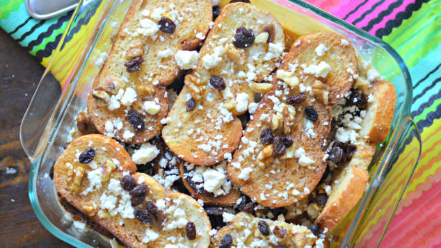 Charbel Barker's capirotada has evaporated milk and sweetened condensed milk, additions to the recipe by her abuelita.