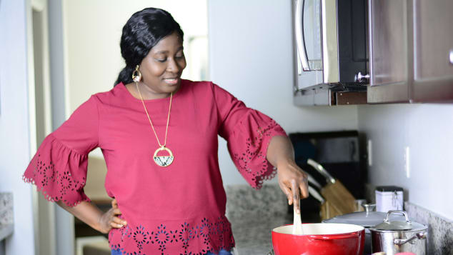 Lola Osinkolu is the creator of Chef Lolas Kitchen. She was born and raised in Nigeria, which has greatly influenced how she cooks.